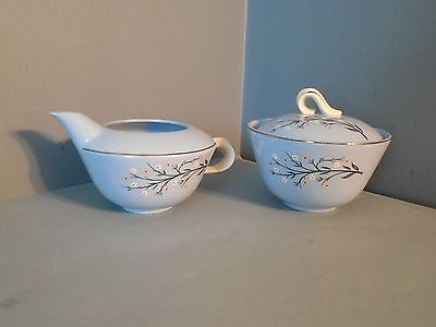Vintage Skytone by Homer Laughlin Cream and Sugar Set