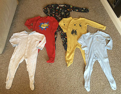 5 x Babygrows / Sleepsuits *NEXT *Space   #210