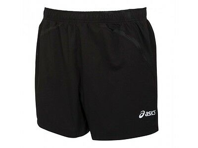 """Asics Mens 5 Inch 2 In 1 Compression Twin Black Running Shorts S M L Xl 5"""""""