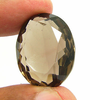 47.60 Ct Natural Oval  Smoky Quartz Brown  Loose Gemstone  Stone- R3316