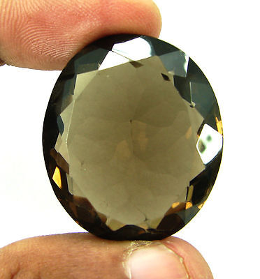 85.90 Ct Natural Oval  Smoky Quartz Brown  Loose Gemstone  Stone- R428