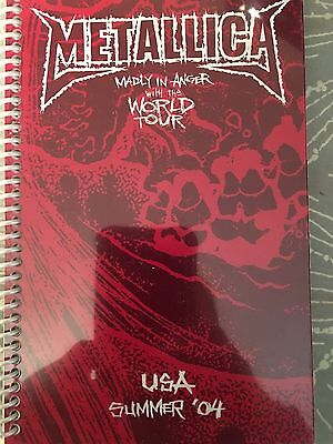 Metallica Madly In Anger Tour Itinerary Very Rare Pushead Artwork