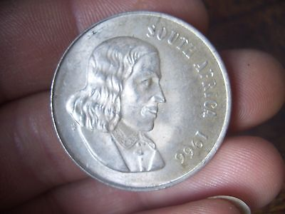 Silver South African 1 Rand 1966 Dated  High Grade Coin