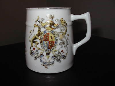Queen Victoria Mug Diamond Jubilee 1897 With Coat Of Arms