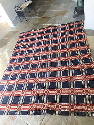 Outstanding 1850's To 1860's 2 piece southern coverlet