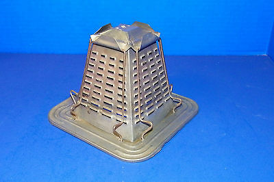 Vintage Tin Metal 4 Slice Toaster for Woodstove Cook Stove Camp Fire
