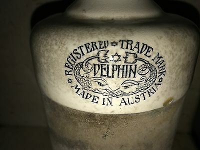 1910s DELPHIN AUSTRIA WATER FILTER ANTIQUE CERAMIC STONEWARE TRAVELLERS BOTTLE