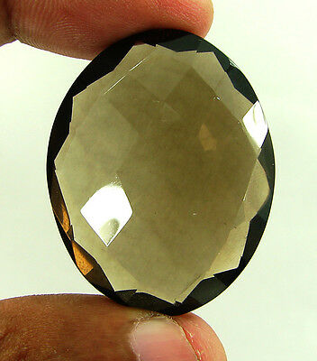 100.60 Ct Natural Oval  Smoky Quartz Brown  Loose Gemstone  Stone- R3291