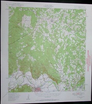 Smithville Texas Colorado River Camp Swift Reservation 1955 old USGS Topo chart