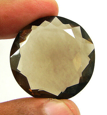 57.65 Ct Natural Round  Smoky Quartz Brown  Loose Gemstone  Stone- R3327