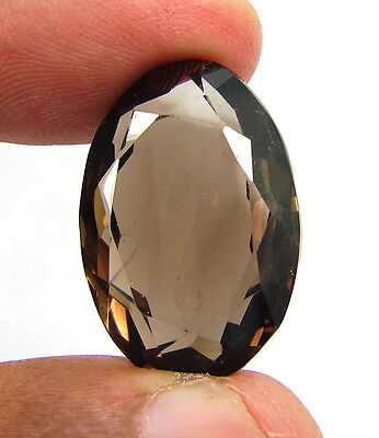 29.45 Ct Natural Oval  Smoky Quartz Brown  Loose Gemstone  Stone- R3318