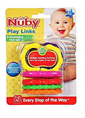 NEW!! Nuby Linkables Colorful Plastic Play Links Strollers Play Mat Toys
