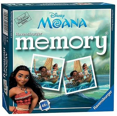 Ravensburger 21244 High Quality Disney Moana Mini Memory Card Play Game - Multi