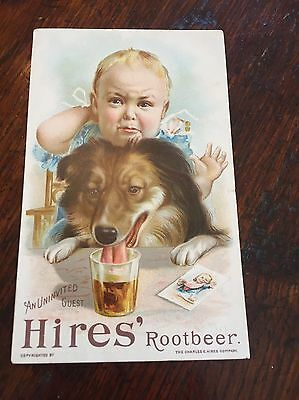 Hires Root beer Early 1900 Vintage Advertising Card