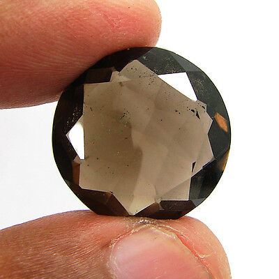 22.20 Ct Natural Round  Smoky Quartz Brown  Loose Gemstone  Stone- R3337