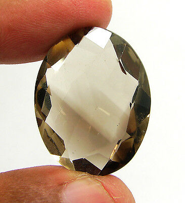 38.55 Ct Natural Oval  Smoky Quartz Brown  Loose Gemstone  Stone- R3314