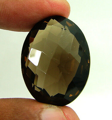 73.00 Ct Natural Oval  Smoky Quartz Brown  Loose Gemstone  Stone- R3301