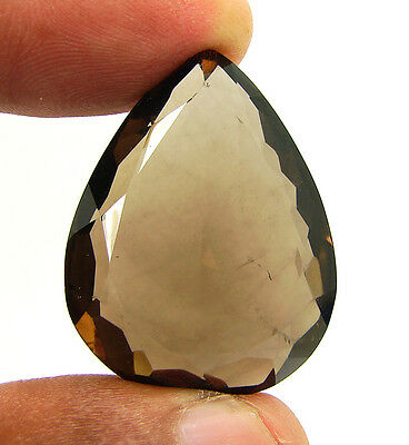62.60 Ct Natural Pear Smoky Quartz Brown  Loose Gemstone  Stone- R3349