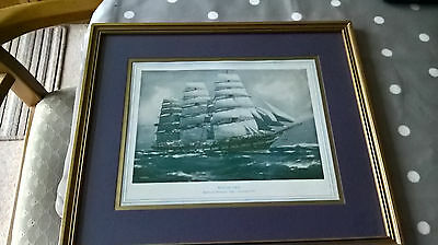 Framed Print Macquarie Blackwell Passanger Ship Launched 1875