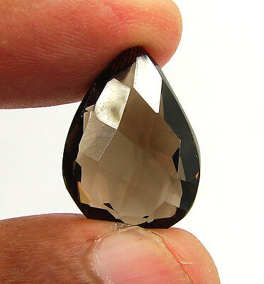 17.60 Ct Natural Pear Smoky Quartz Brown  Loose Gemstone  Stone- R3352