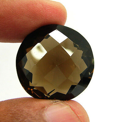 42.00 Ct Natural Round  Smoky Quartz Brown  Loose Gemstone  Stone- R3332