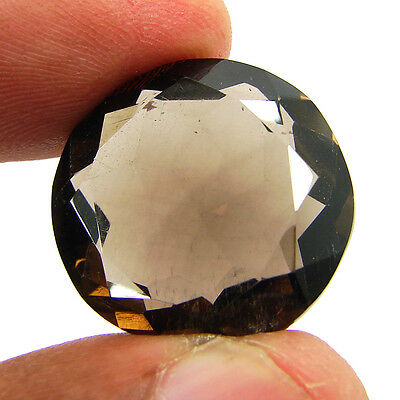 30.00 Ct Natural Round  Smoky Quartz Brown  Loose Gemstone  Stone- R3333