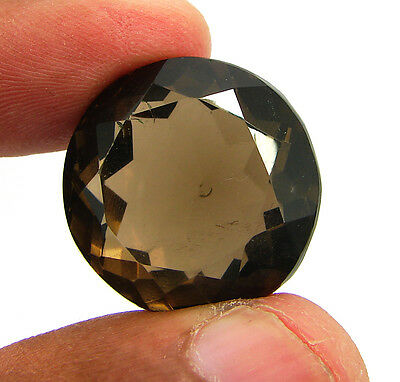 49.20 Ct Natural Round  Smoky Quartz Brown  Loose Gemstone  Stone- R3330