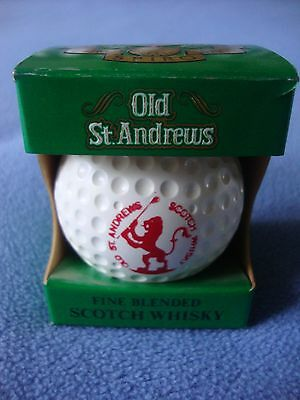 Old St. Andrews Golf Ball Whisky Bottle & Box, Perfect, 50 Ml, Scotland, 1982