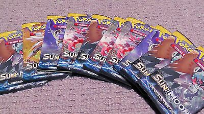x10 SEALED Pokemon Sun and Moon Base Set Booster Packs