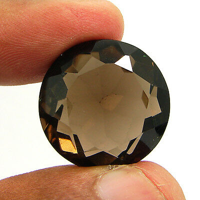 37.90 Ct Natural Round  Smoky Quartz Brown  Loose Gemstone  Stone- R3334