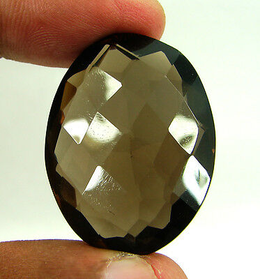 83.00 Ct Natural Oval  Smoky Quartz Brown  Loose Gemstone  Stone- R3298
