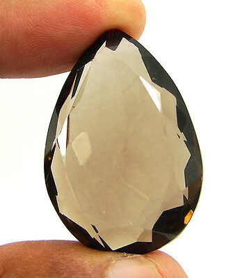 78.50 Ct Natural Pear Smoky Quartz Brown  Loose Gemstone  Stone- R3342