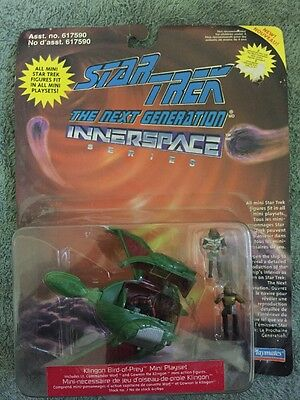 Star Trek The Next Generation Innerspace Klingon Bird Of Prey Mini Playset