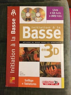 Initiation à la Basse en 3D Frank Nelson méthode partition score