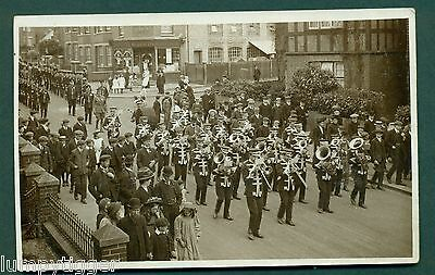 EAST GRINSTEAD CHURCH PARADE BY HARDING,vintage postcard