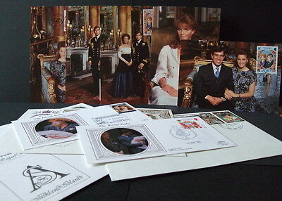 1986  Royal  Wedding  Post Cards  And  Covers