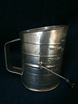 Vintage Bromwell's Measuring Sifter Michigan City U.S.A.