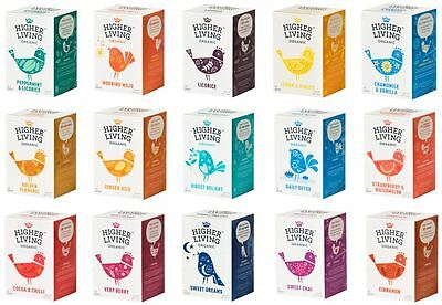 Higher Living Herbal Organic Teas Tea Sachets - Choose From 15+ Flavours