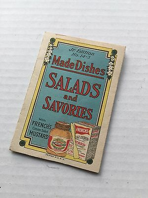 Vintage French's Mustard advertising recipe card