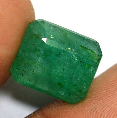 10.25 Ct Natural Green Emerald Zambia Originated Octagon Cut Gemstone For Ring
