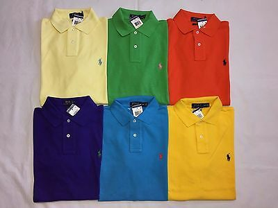 New With Tags Polo Ralph Lauren Men's Custom Fit Polo Shirt- S/M/L/Xl/2Xl