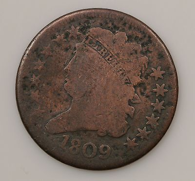 1809 Classic Head *Normal Date* Half Cent *G33