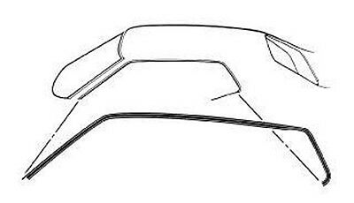new 1971 1973 mustang coupe fastback roof rail weatherstrip seal 1984 Mustang Hatchback 1971 1973 mustang coupe fastback roof rail weatherstrip seal pair