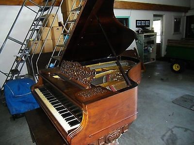 Gorgeous  Victorian Knabe Antique Grand Piano & Free Steinway stool /watch video