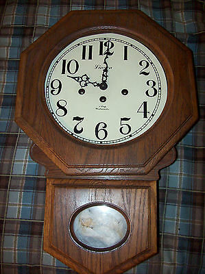 LINDEN 8 DAY WALL CLOCK WOOD FRAME Westminster NO KEY  WIND REPAIR PARTS