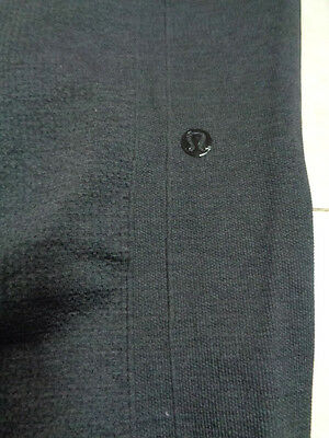WOMANS LULULEMON GRAY EBB TO STREET PANTS leggings SIZE 12 COMPRESSION SEAMLESS