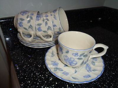 Bhs Bristol Blue Cups And Saucers X 4