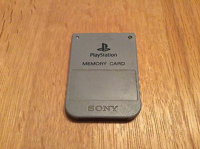 Official Grey Sony Playstation - Ps1 Memory Card - Scph-1020 - Gd Condition