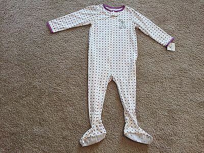 New Carter's Toddler Girls Footed Long Sleeves Pajamas. Size 3T