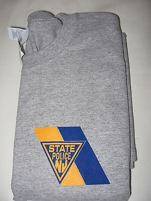 New Jersey State Police Gray Tee Shirt - Ss - Size -  Medium